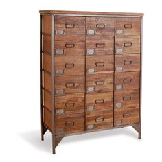 Chandler Apothecary Chest Of 18 Drawers - Mango Wood