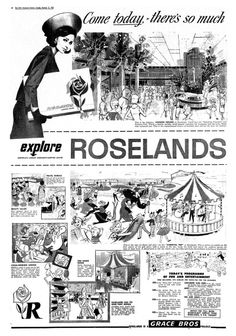 """1960s' Roselands Shopping Centre: """"Come today..."""" - and wear your pillbox hat!"""