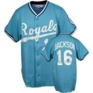 Bo Jackson KC Royals Powder Blue Jersey 56
