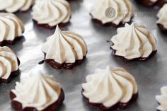 Chocolate-Dipped Espresso Merginues