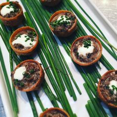 Delectable mushroom appetizers at the Eggland's Best Luncheon. #ebeggs @egglandsbest