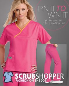 CONGRATS @Evelyn Young you won the Urbane scrubs! Email stephanie@scrubshopper.com with your size and mailing information so she can get those out to you right away.  Unfortunately, we're getting an error when we try to comment on the pin to notify you Evelyn. We're trying, though.