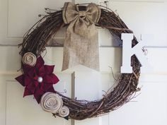 Homemade Christmas Wreath. #diy #christmas #crafts #xmas_present