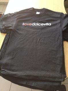 Playera I Love Dolce Vita Negra