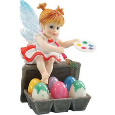 My Little Kitchen Fairies Painting Easter Eggs Fairy - Polyvore