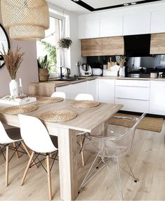 Kitchen Inspiration // My Hygge Home - All Ideas Kitchen Room Design, Modern Kitchen Design, Home Decor Kitchen, Interior Design Kitchen, Home Kitchens, Kitchen Living, Room Kitchen, Kitchen Cabinets, Dining Room