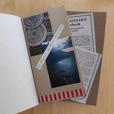 WEBSTA @ mymidoritn - Scrapbook! ✂️ #midoritravelersnotebook #midori #travelers #notebook #japan #journal #tape #masking #scrapbook