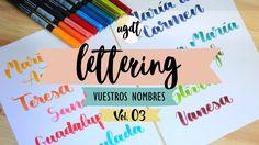 Lettering con vuestros nombres Vol. 3 - Letras bonitas - Rotulador punta...