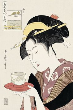 Beauty with tea