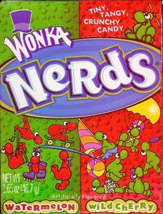 Nerds: A Timeless Crunchy Colorful Candy    There is nothing better than that flavorful fruitful crunch of nerd. Actually, we have been crunching on these small delicious candies for over 20 years.  http://www.bubblews.com/news/801382-nerds-a-timeless-crunchy-colorful-candy