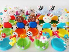 Porta docinhos da Peppa pig e seus amiguinhos (biscuit)  Preço por unidade  Podem ser personagens variados. R$ 7,00