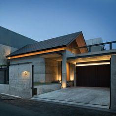 Esto es lo que quiero usar para la casa de Nicaragua Architecture 101, Minimalist Architecture, Residential Architecture, Japanese Modern House, Modern Tropical House, Village House Design, House Front Design, Arch House, Facade House