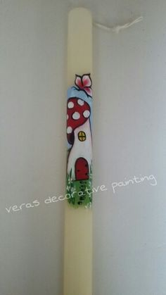 Easter Candle, Candles, Ornaments, Diy, Painting, Decor, Decoration, Bricolage, Painting Art