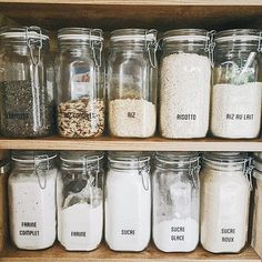 Another glance at our French jars... sigh... we want to be back. vive la France!  Our pantries are gorgeous and make #zerowaste and #plasticfree living possible. No matter where you live- in #france or #germany or the #usa  #style_meets_sustainability #green_made_gorgeous #eco_meets_elegance.  #design #glassjars #organization #zeroplastic #organic #bulkbins #coop #cookathome #cookwithyourkids #notprocessed food #stylemeetssubstance #ecofriendly #ecoconscious #sustainable