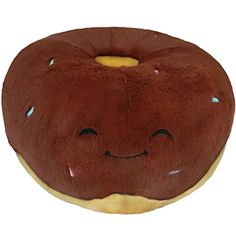 Squishable Chocolate Donut! A chocolatey, cuddly friend for your sofa or bedroom! (Two other colors available!) #squishable #donut #plush