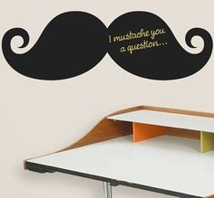 Full beard Removable Blackboard decals Gift for kids Room decor