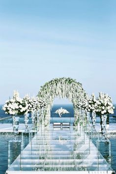 beach wedding locations Photographer: Axioo via The Wedding Scoop; Indonesias luxurious island Bali steals a spot on our list of Top 15 Destination Wedding Locations with its pristine waters and luxury resorts. Pool Wedding, Bali Wedding, Wedding Ceremony, Dream Wedding, Wedding Arches, Wedding White, Water Theme Wedding, Wedding In Greece, Wedding On The Beach