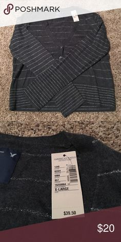 Grey with silver threading button down. Brand new with tags! American Eagle Outfitters Sweaters Cardigans
