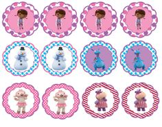 I like big freebies: Doc McStuffins party printables (cupcake toppers and cupcake wrappers) Doc Mcstuffins Cupcakes, Doc Mcstuffins Birthday Party, 4th Birthday Parties, Birthday Fun, Frozen Birthday, Bottle Cap Art, Bottle Cap Images, Party Printables, Cupcake Toppers