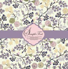 Elegant flower pattern card background vector-2