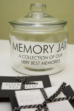 Keepsake memory jar