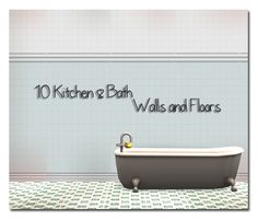 Tile walls and floor for your kitchens and Baths! DOWNLOAD