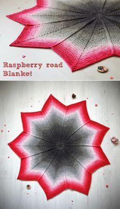 Free crochet pattern: Raspberry road blanket--round ripple