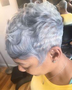 "254 Likes, 28 Comments - Raijona Boyd (@serenityhairstudionj) on Instagram: ""Hair by Raijona #njhairstylist #serenityhairstudio #shorthairstylist #silverfox #grayhair…"""