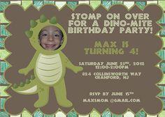 Dinosaur Birthday Party Invitation by FruityDrinksDesigns on Etsy, $1.25