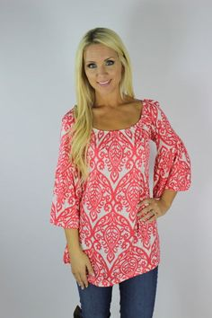 #823 Boutique             #love                     #Love #Stroll #Coral      Love Stroll Top - Coral                             http://www.seapai.com/product.aspx?PID=559061