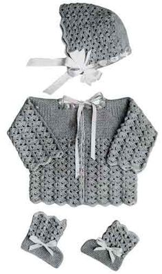 Baby Sweater Set free crochet pattern