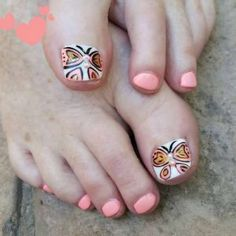 With the season changing from winter to spring and summer, it's time that you change your nail fashion too and this includes your toes, especially if you plan… Pretty Nail Colors, Pretty Nail Art, Fall Nail Colors, Toe Nail Designs For Fall, Pretty Nail Designs, Fall Toe Nails, Natural Manicure, Nail Design Video, Sexy Nails