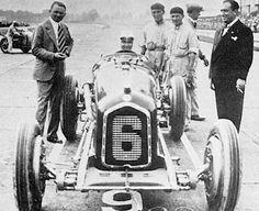 1932 Monza GP ~  Rudi in 1932 P-3 Alfa-Romeo before start, Monza Grand Prix.