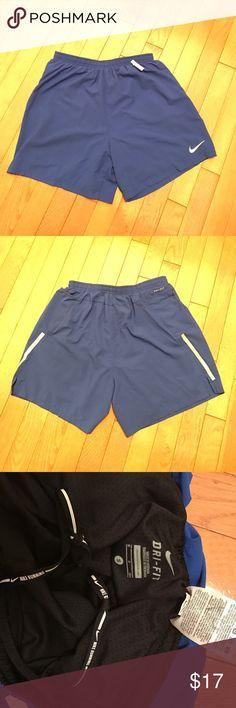 Nike running shorts w/spandex shorts women's S 💙 Nike running shorts w/spandex shorts women's S 💙 Blue outside shorts with built in black spandex shorts Nike Shorts