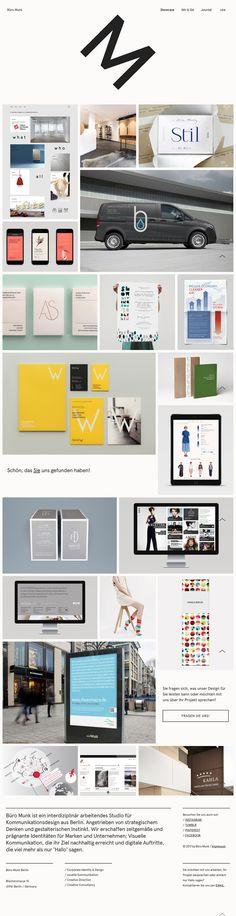 Portfolio page of Berlin based design studio Büro Munk.