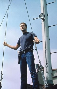 "Roy Scheider as ""Martin Brody"" - in JAWS - greatest movie of my life!"