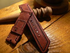 Leather Watch strap Handmade band Strap watch by GORIANI, $19.99