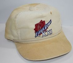 Vintage Superbowl XXI NFL Broncos Giants Corduroy Trucker Hat Snapback  NFL   football  TruckerHat 27794ba34