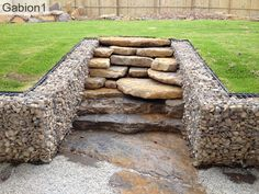 large rock stair case with gabion side walls http://www.gabion1.com.au