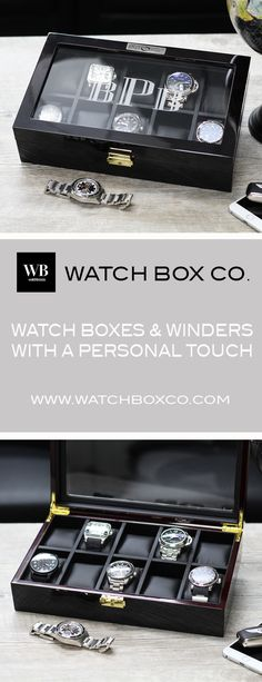 Custom Personalized Watch Boxes & Watch Winders.  The Perfect Unique Gift For the Holiday Season.