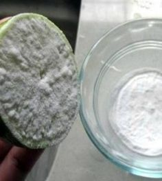 Dip Half a Lemon in Baking Soda, and You Will be Amazed by The Result! And, baking soda is also known as sodium bicarbonate. The combination of baking soda a. Get Whiter Teeth, Natural Teeth Whitening, Sodium Bicarbonate, Varicose Veins, Home Remedies, Cleaning Hacks, Cleaning Agent, Coke Cleaning, Baking Soda