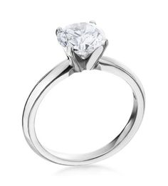 Michael C. Fina - T Style Collection Platinum Solitaire Setting