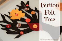 Felt Button Tree - excellent for building fine motor skills