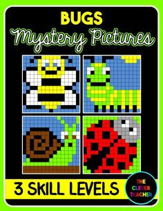 Differentiated Addition & Subtraction Mystery Pictures. This bug-themed picture pack is a FUN way for students to build math fact fluency. They love watching the picture appear before their eyes! Each of the four pictures comes with an easy, medium, and challenging level to differentiate for all your students! $