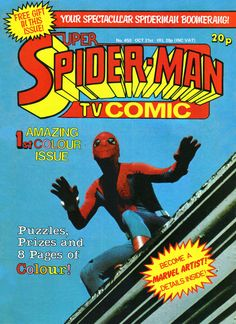 The Amazing Spider-Man TV show UK comic