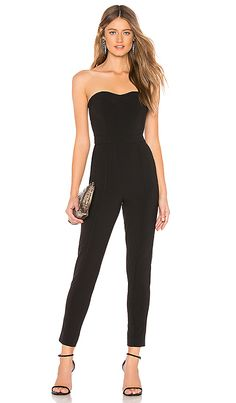 f0380ecf0641cf LPA Sweetheart Neckline Jumpsuit in Black