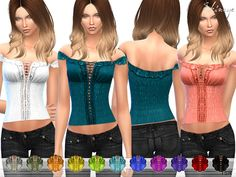 Sims 4 CC's - The Best: Off The Shoulder Ruffle Top by Ekinege