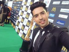 When one trophy meets another. The ever so charming! Armaan Malik
