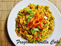 Raw spicy carrot risotto
