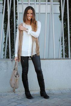 #leather #fringes #vest